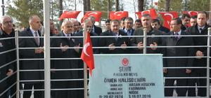 Bakan Eroğlu'ndan şehit Halisdemir'in kabrine ziyaret