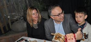 Kaymakam Özcan'a veda yemeği