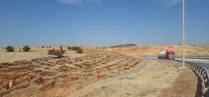 Gaziantep-Nizip-Nurdağı otobanı yeşile bürünüyor