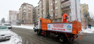 Sultangazi'de karla mücadele hazırlıkları