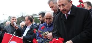 Sancaktepe Belediye Başkanı İsmail Erdem, Beşiktaş'ta şehitleri andı