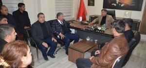Başkan Pınarbaşı'dan emniyet teşkilatına taziye ziyareti