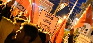 Kemalpaşa'da onlarca kişi teröre lanet yağdırdı