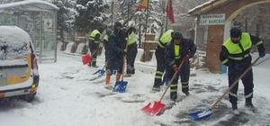 Kahramanmaraş Büyükşehir Belediyesi'nin kar nöbeti