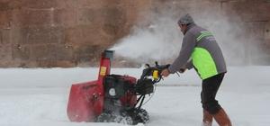 İncesu Belediyesi karla mücadele çalışmalarına başladı