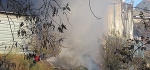 Sanayi bölgesinde çıkan yangın, büyümeden söndürüldü