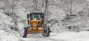 Giresun'da kar etkili oldu: 377 köy yolu ulaşıma kapandı