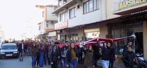 Karacasu'da yüksekokul öğrencileri şehitleri andı