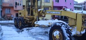 Yağlıdere Belediyesinin kar temizleme çalışmaları