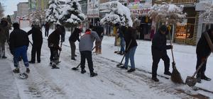 Patnos'ta kar temizleme çalışmaları