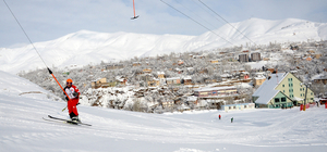 Bitlis'te kayak heyecanı