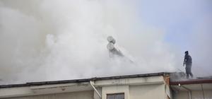 Merzifon'da çatı yangını