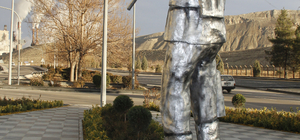 Çayırhan'a madenci heykeli dikildi