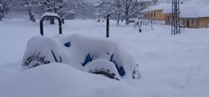 İnebolu'da ve Cide'de etkili olan kar yağışı hayatı durdurdu