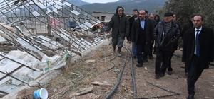 Başkan Kocamaz, fırtınadan etkilenen üreticileri yalnız bırakmadı