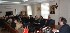 Öğretmenlerden Kaymakam Akgül'e ziyaret