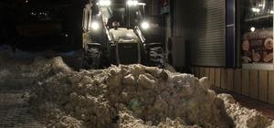 Başkale'de karla mücadele