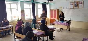 Güroymak Kaymakamı Alibeyoğlu'nun kurs ziyareti