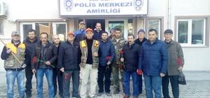 Lapsekili avcılar Emniyet Müdürlüğünü ziyaret etti