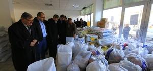 Halep'e insani yardımlar sürüyor