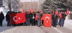 """Çıldır'da """"Şehitlere saygı ve güvenlik güçlerine destek"""" yürüyüşü"""