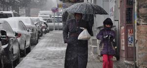 Nizip'e kar yağdı