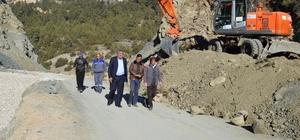 Kaş Cemre'de asfalt hazırlığı
