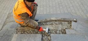 Diyarbakır'da kaldırımlar onarılıyor