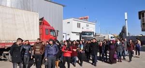 Öğrenciler ayçiceği yağı fabrikasını gezdi