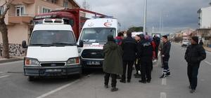 Ambulansa minibüs çarptı