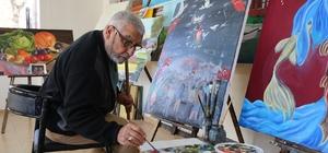 70 yaşındaki memur emeklisinin resim sevgisi