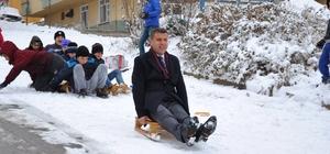 Başkan çocuklarla karın tadını çıkardı