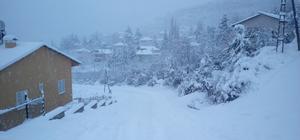 Mersin'de etkili kar yağışı