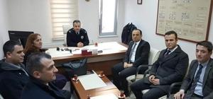 SGK Müdürü Ercan'dan asker ve polise ziyaret