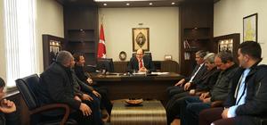 Suşehri Kaymakamı Uzunoğlu'na ziyaretler