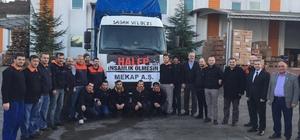 Arsin OSB'den Halep'e ayakkabı yardımı