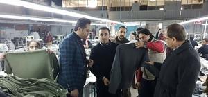 Kaymakamı Alibeyoğlu, tekstil atölyesini ziyaret etti