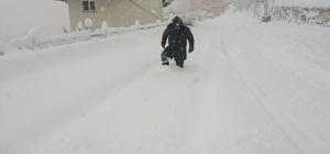 Turizmin başkentinde kar etkili oluyor