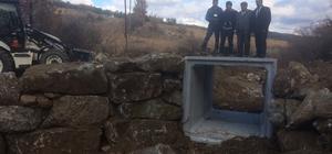 Köprülerin güvenliği menfezlerle sağlanıyor