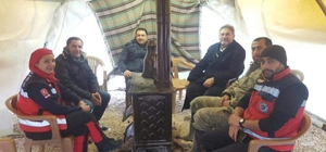 Şimşek'ten Fırat Kalkanında görev yapan askerler ve sağlık çalışanlarına moral ziyareti
