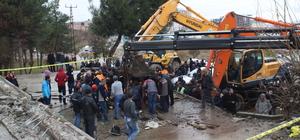 Siirt'te eski otogarın yıkım çalışması