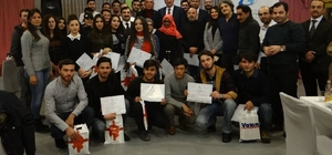 Uluslararası öğrenciler sertifikalarını aldılar