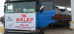 Kaman'dan Haleplilere yardım