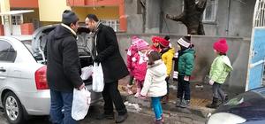 Anaokulu öğrencileri Halepli aileyi kardeş edindi