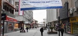 Esnaftan Büyükşehir Belediyesi'ne afişli teşekkür