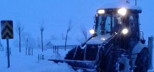 Ladik'te kar yağışı etkili oluyor