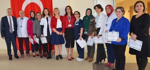 Aydın'da eğitimlerini tamamlayan hemşireler sertifikalı oldu