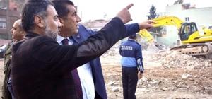 Ceylanpınar'da cami inşaatı