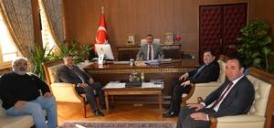 Güreş Federasyonu Başkanı Aydın'dan Başkan Yağcı'ya ziyaret