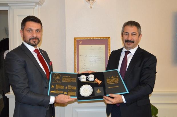 Müdür Dinç'ten Başkan Yüzügüllü'ye iadeyi ziyaret
